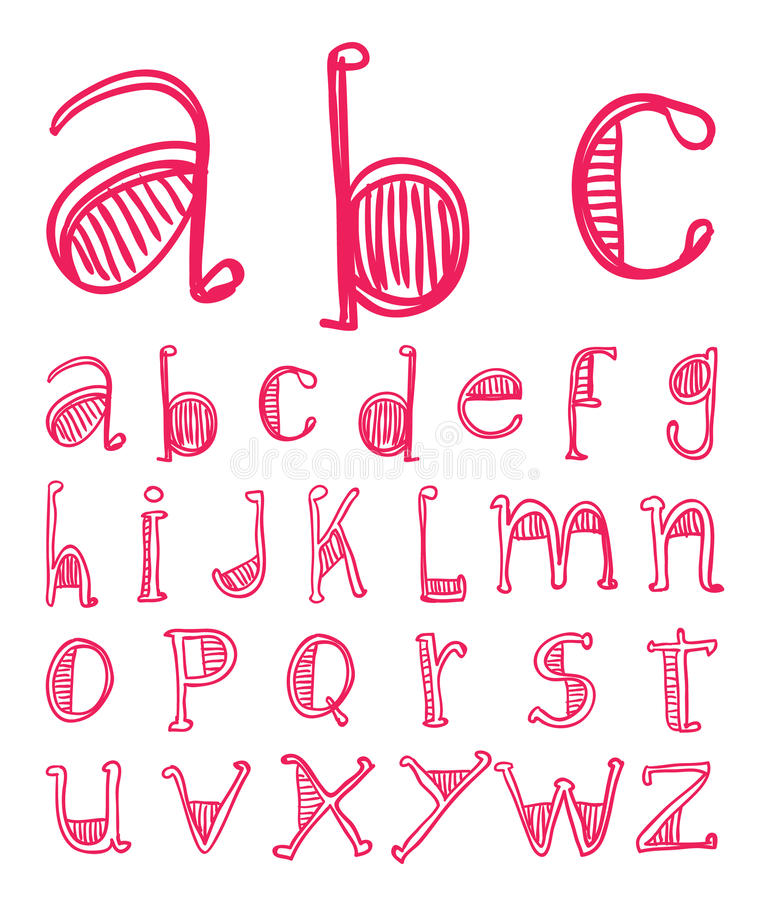Alphabet font line - Vector illustration.  vector illustration