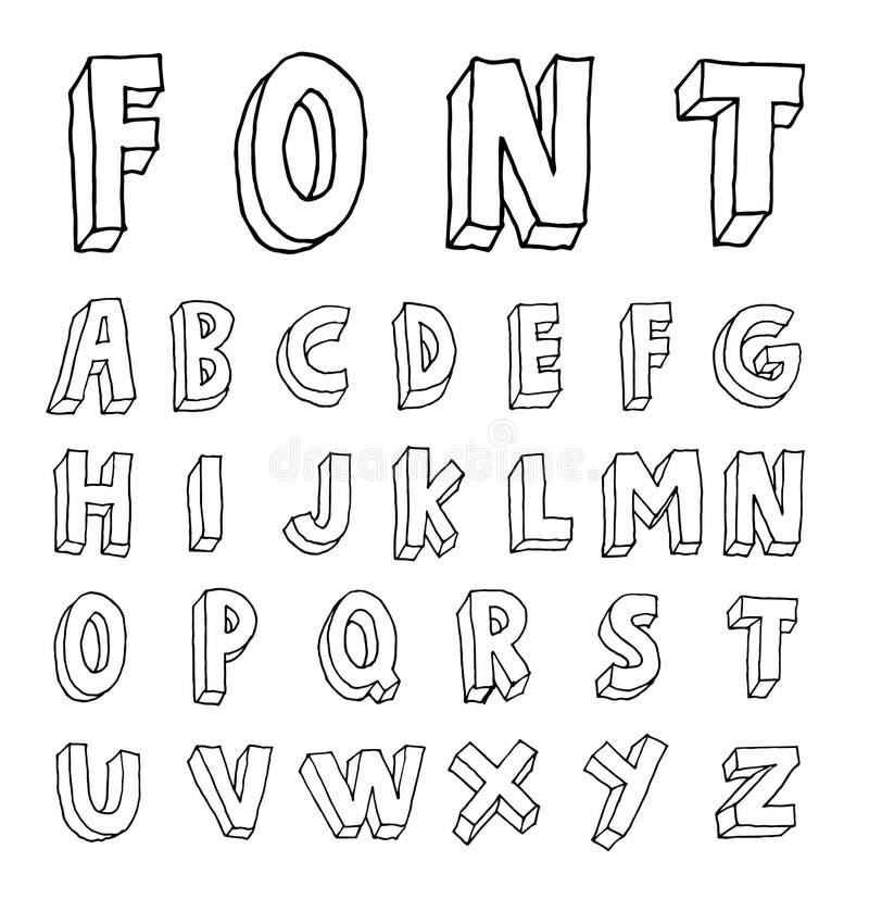 Alphabet font line - Vector illustration. Alphabet font line set- Vector illustration vector illustration