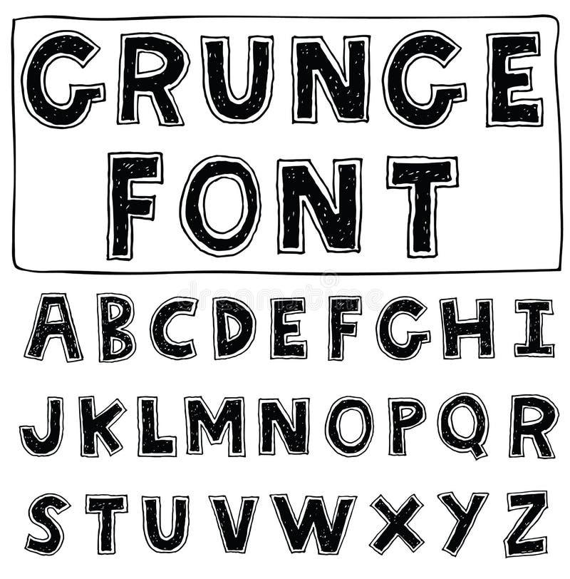 Alphabet font line - Vector illustration. Alphabet font line set- Vector illustration stock illustration