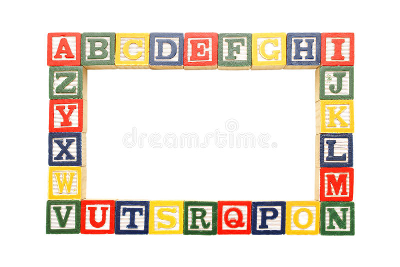 Alphabet Frame. An alphabet frame for inserting your pictures or copy royalty free stock images