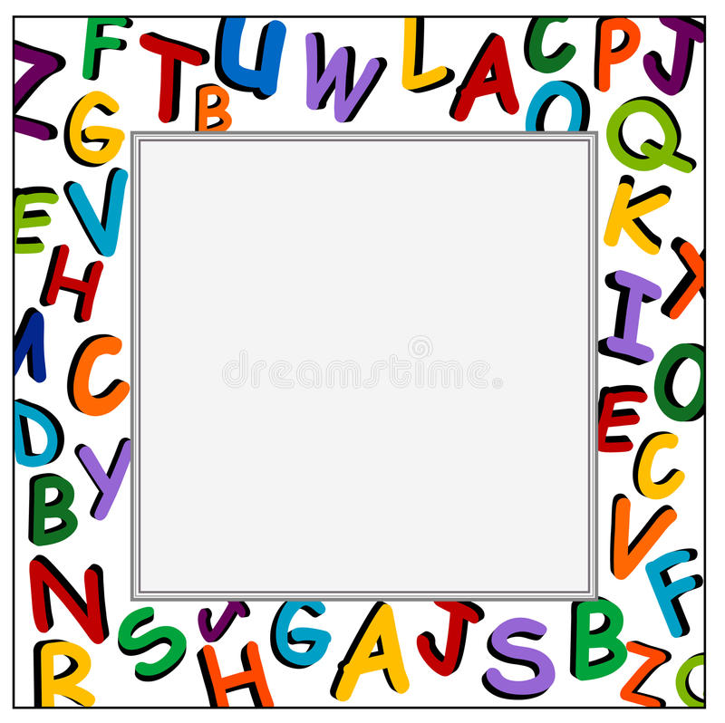 Alphabet Frame on the white background royalty free stock photography