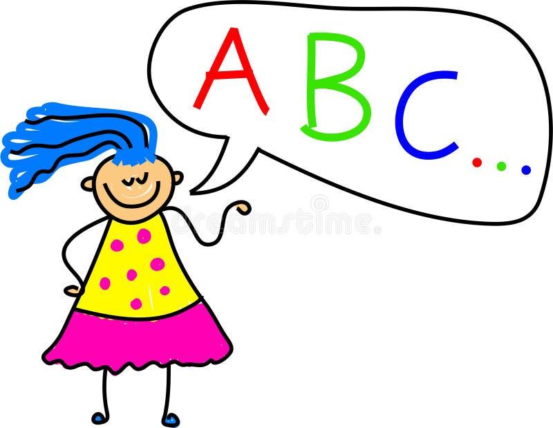 Download Alphabet Girl stock illustration. Illustration of nursery - 933399