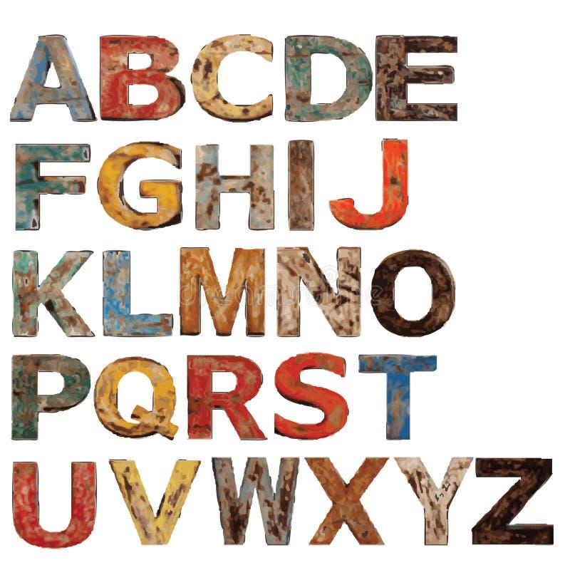 Alphabet graphics royalty free stock photos