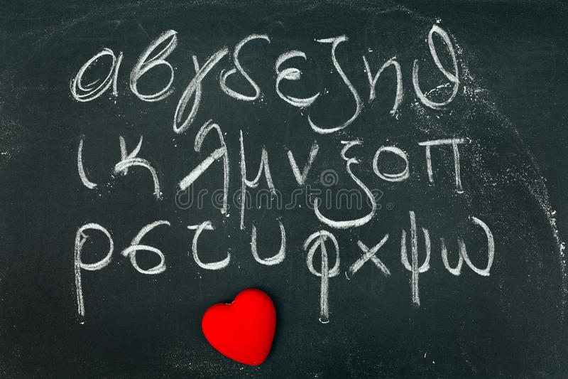 Alphabet grec images libres de droits