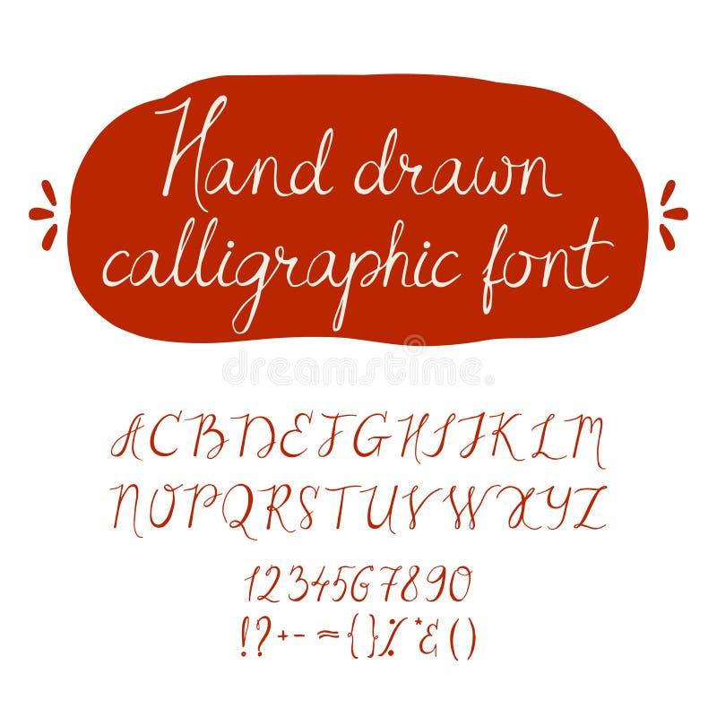 Alphabet Hand gezeichnete Zeichen lizenzfreie abbildung