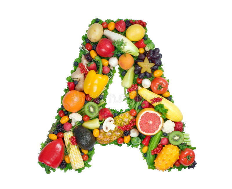 Alphabet of Health - A stock image