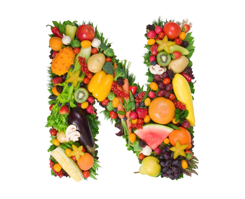 Alphabet of Health - N royalty free stock image