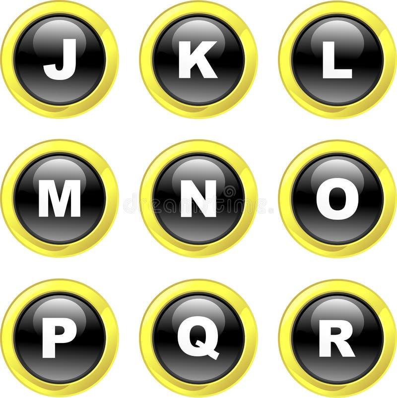 Alphabet icons royalty free illustration