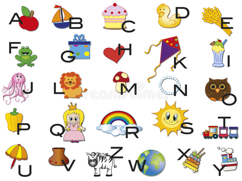 Download Alphabet stock illustration. Image of letters, funny - 30465851