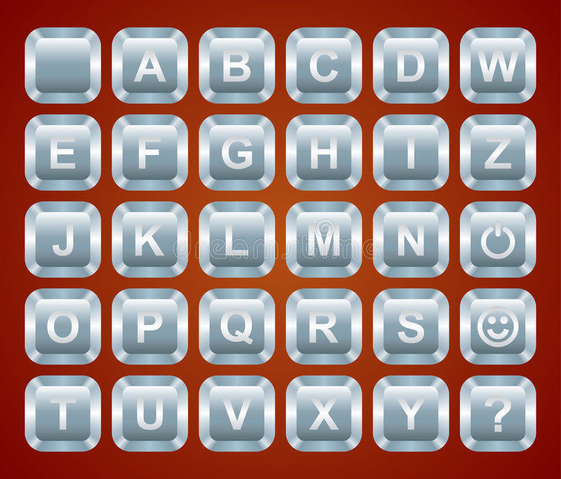 Alphabet keyboard buttons. Vector illustration vector illustration