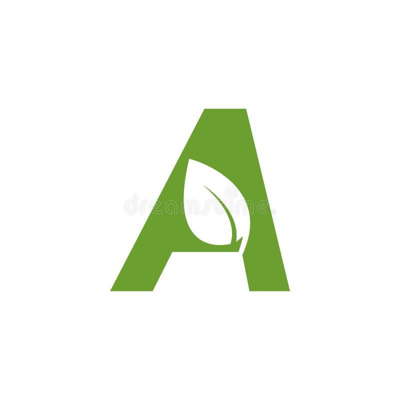 Alphabet leaf graphic design template vector isolated illustration stock illustration