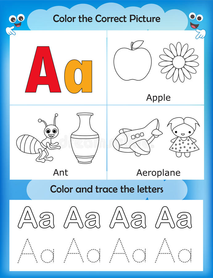 Free Alphabet Learning And Color Letter A Royalty Free Stock Photo - 85733425