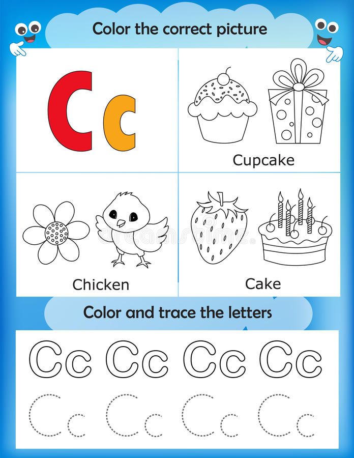 alphabet learning and color letter c stock illustration illustration of cake coloring 85733447. Black Bedroom Furniture Sets. Home Design Ideas