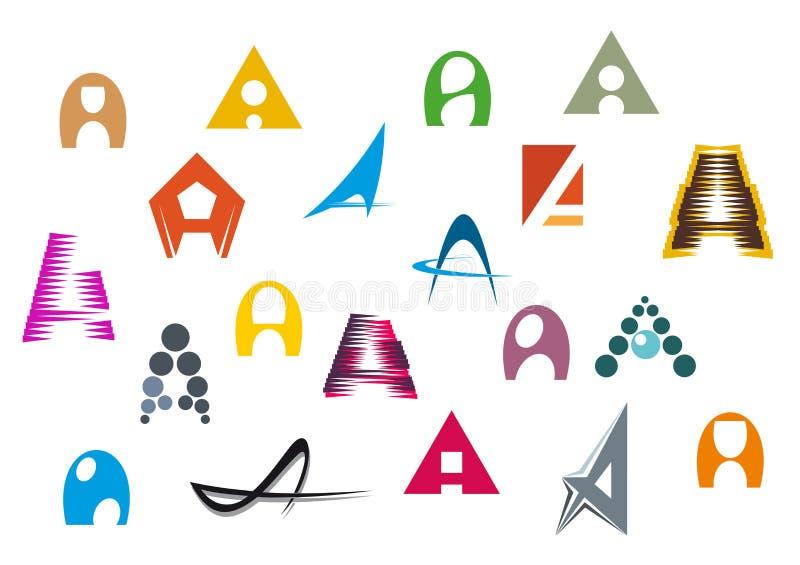 Alphabet letter A stock illustration