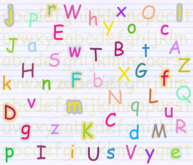 Alphabet letter background