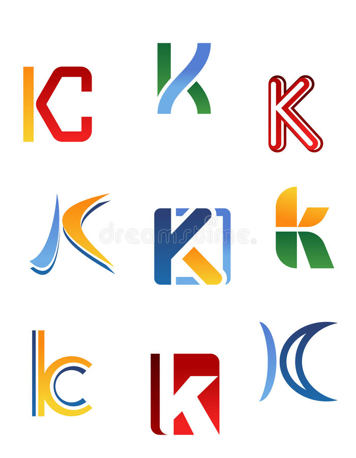 Alphabet letter K stock illustration