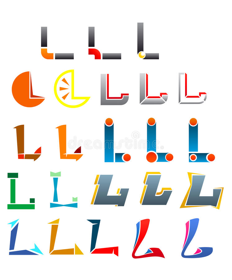 Alphabet letter L stock illustration
