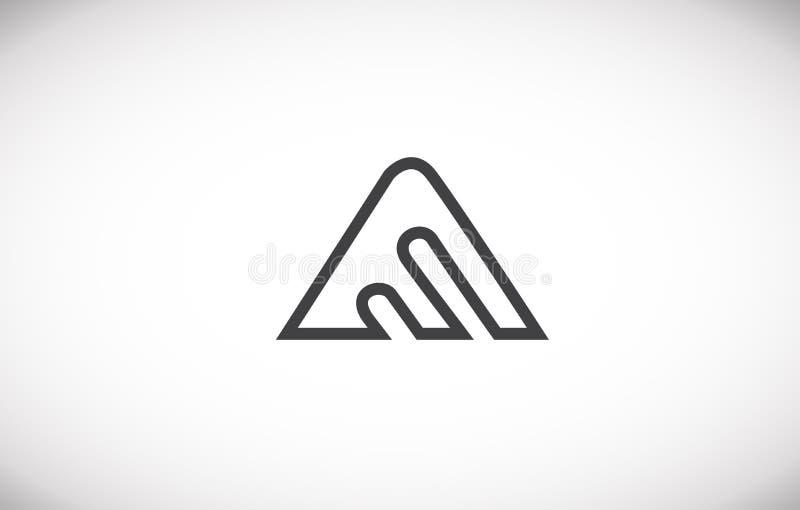 Alphabet letter A line art logo icon design. Alphabet letter a line art black grey white monoline vector logo icon sign design template vector illustration