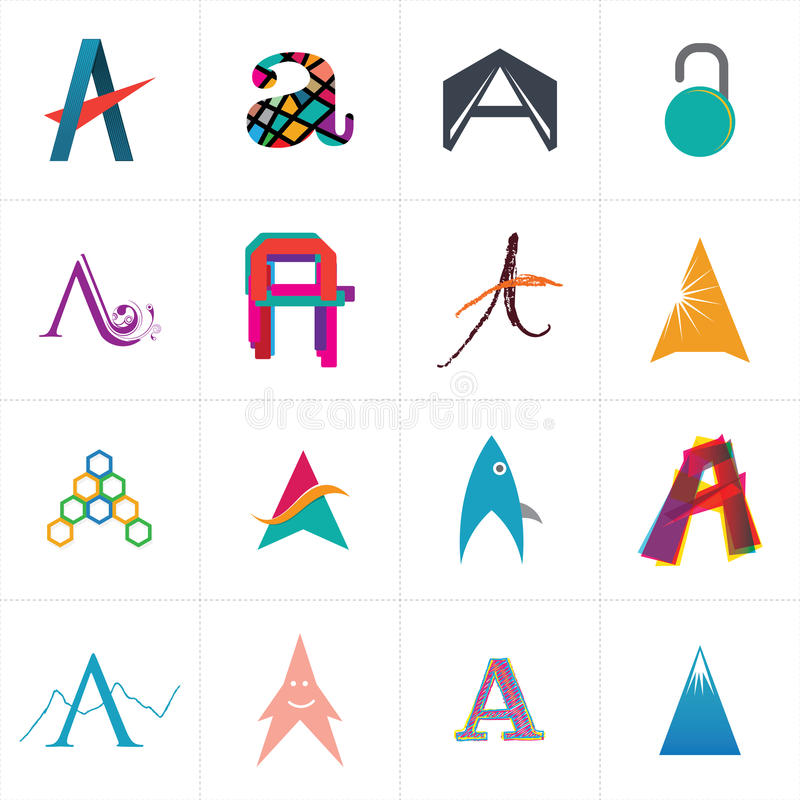 Alphabet letter a logo design stock vector illustration of youth alphabetical logo symbol design of a character ideal for new business venture or to give client as a various logo options spiritdancerdesigns Choice Image