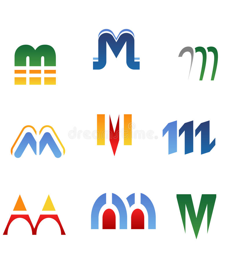 Alphabet letter M royalty free illustration