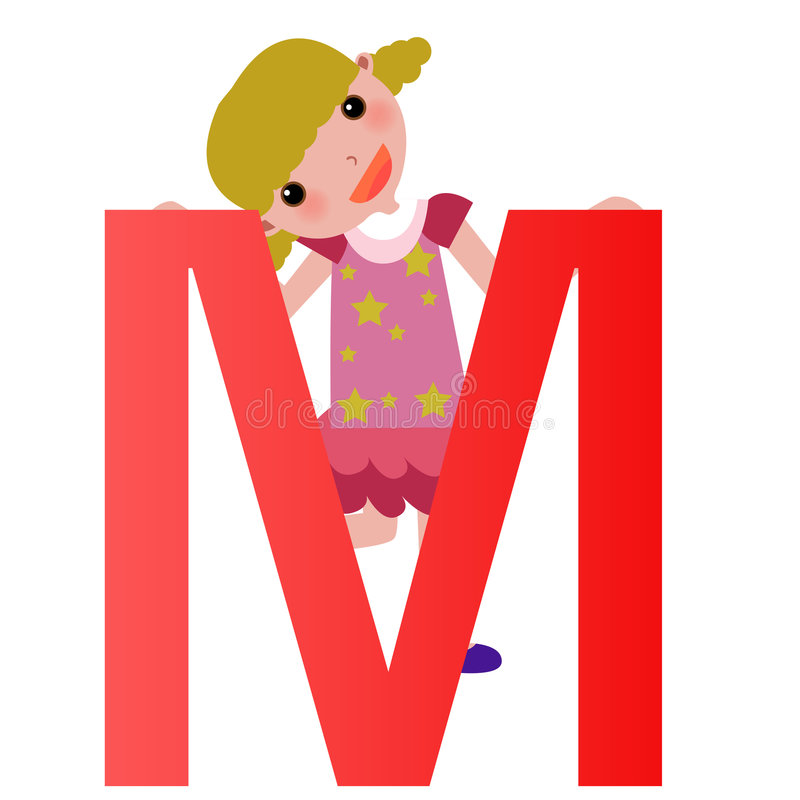Alphabet letter mgirl stock vector illustration of education download alphabet letter mgirl stock vector illustration of education 6052259 thecheapjerseys Images