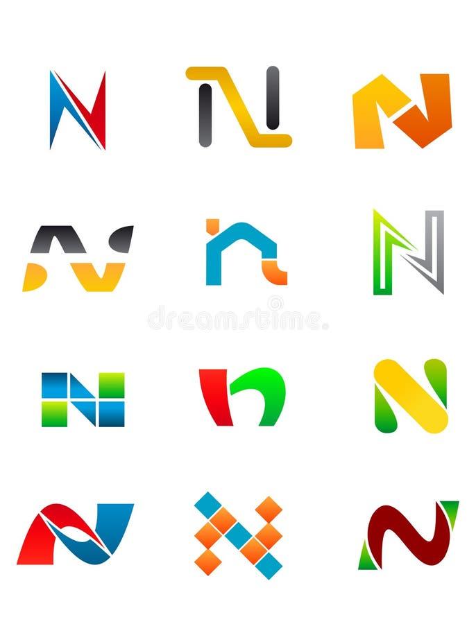 Alphabet Letter N royalty free illustration