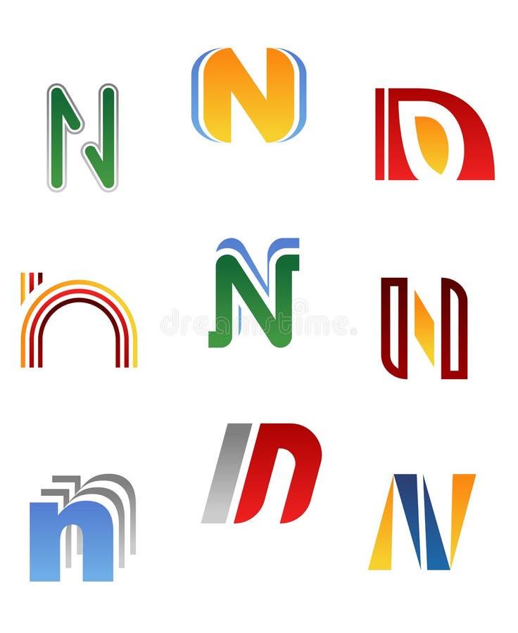 Alphabet letter N stock illustration