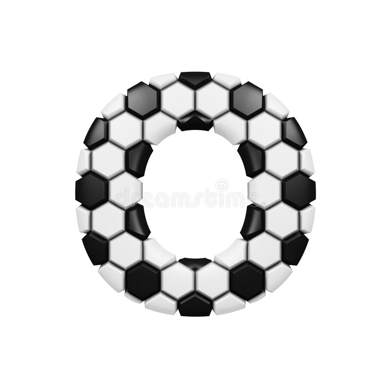 Download Alphabet Letter O Uppercase Soccer Font Made Of Football Texture 3D Render Isolated