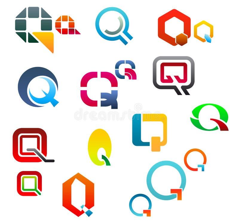 Alphabet letter Q vector illustration