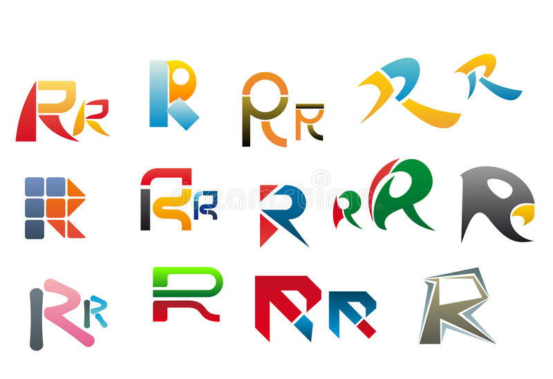 Alphabet letter R royalty free illustration