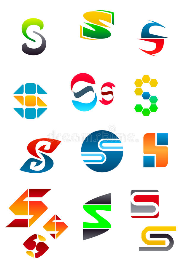 Alphabet letter S vector illustration