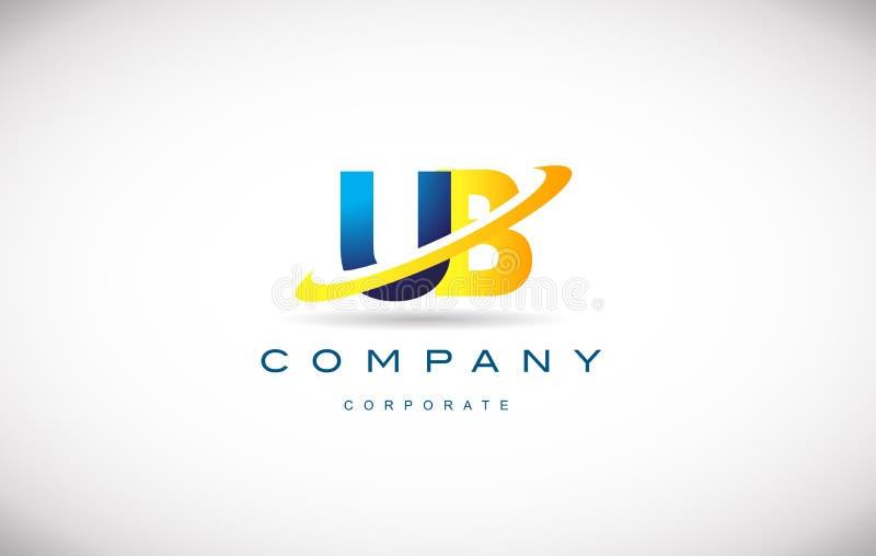 alphabet letter ub u b logo vector icon design stock vector, Presentation templates