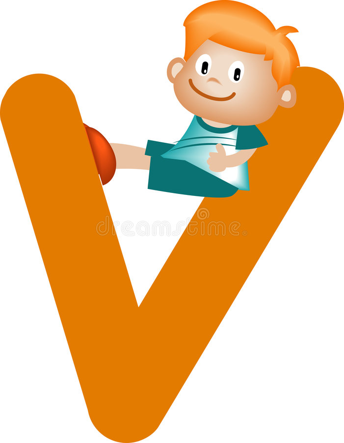 Free Alphabet Letter V (girl) Royalty Free Stock Photo - 900785