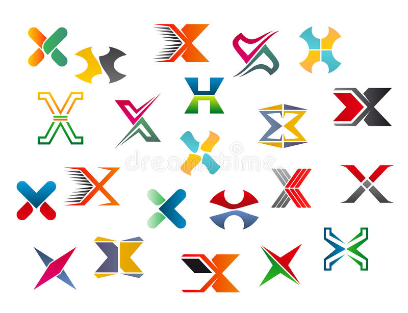 Alphabet letter X vector illustration