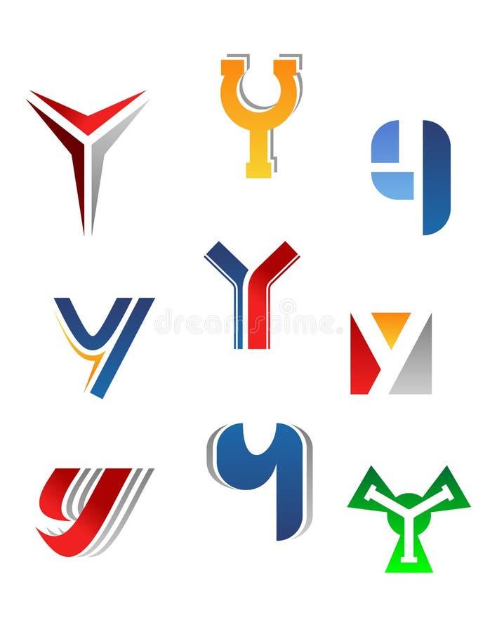 Alphabet letter Y vector illustration