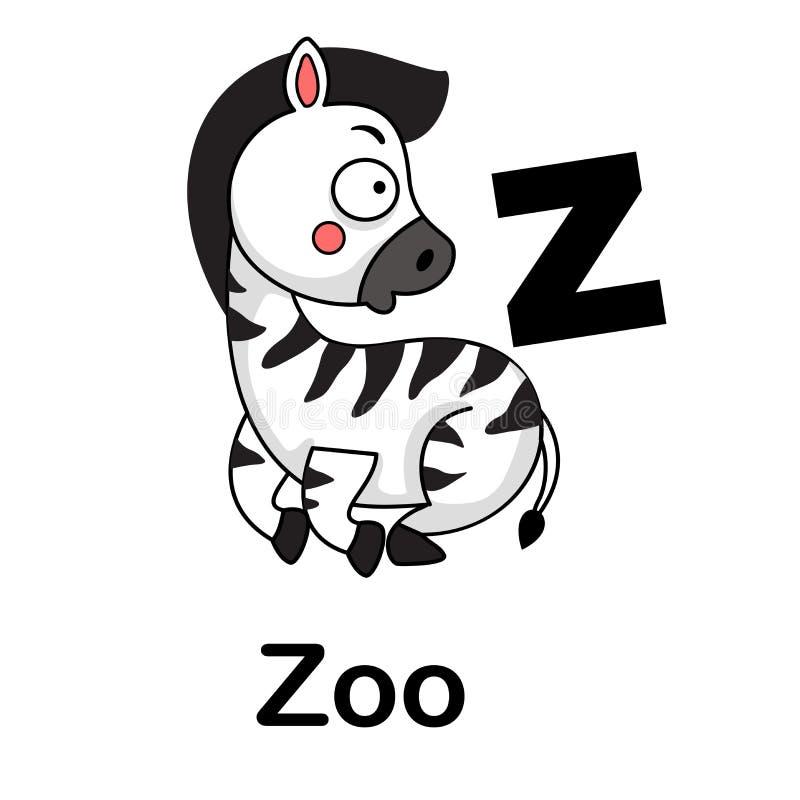 Alphabet Letter z-zoo stock abbildung