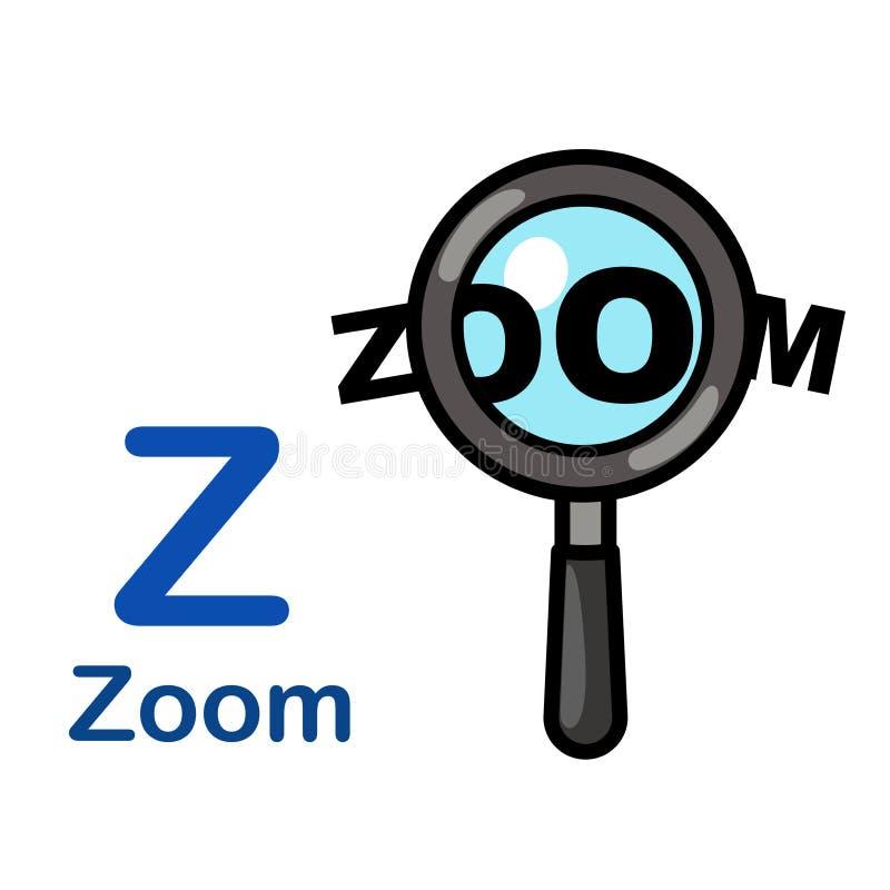 Alphabet Letter Z-Zoom vektor abbildung