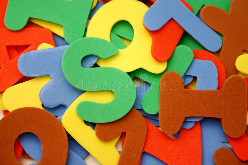 Alphabet letters stock photography