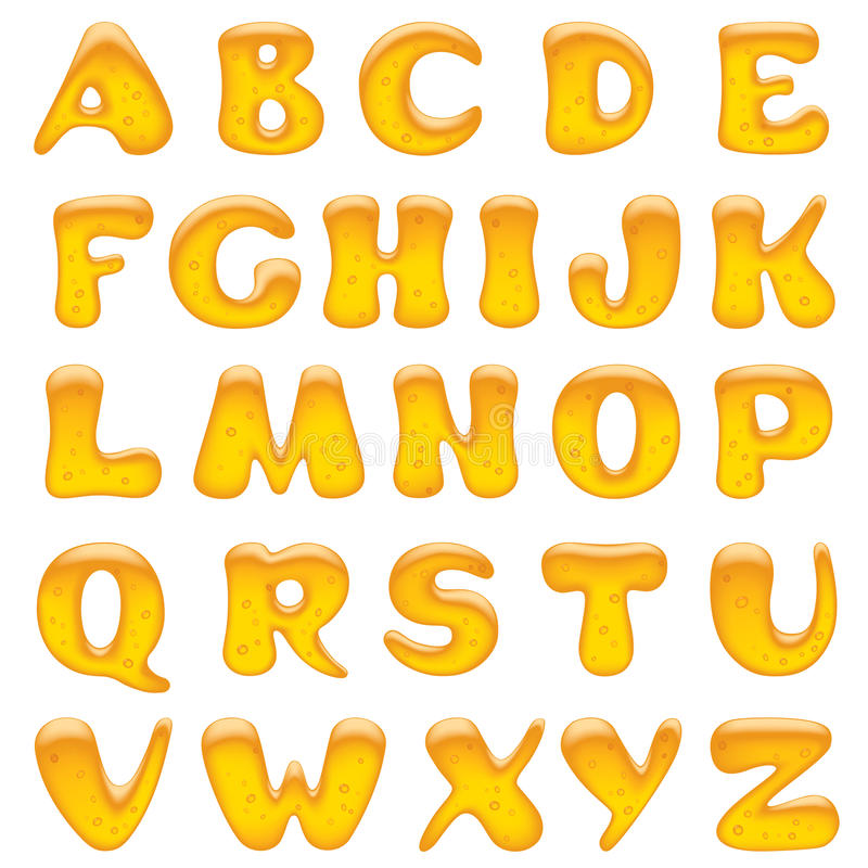 Alphabet letters. Vector image of alphabet capital letters There is in addition a format (EPS 8