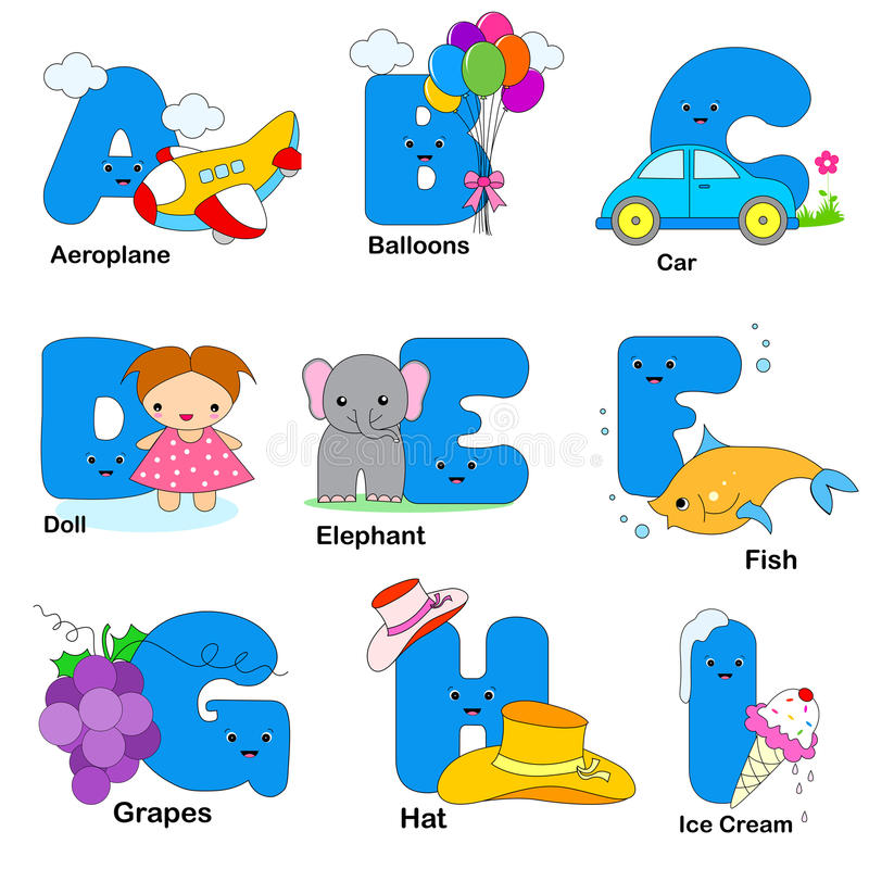 Download Alphabet letters stock vector. Image of educational, fish - 19124572