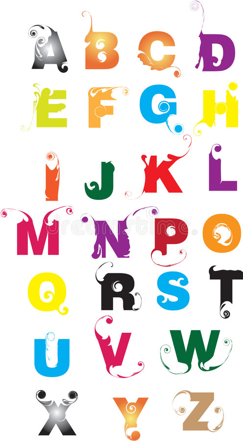 Alphabet letters vector illustration