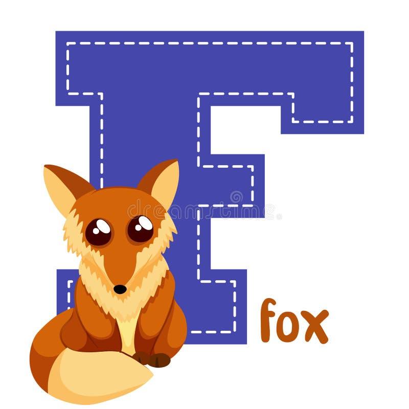 Alphabet letters F. Set alphabet letters F cute simple color stock illustration