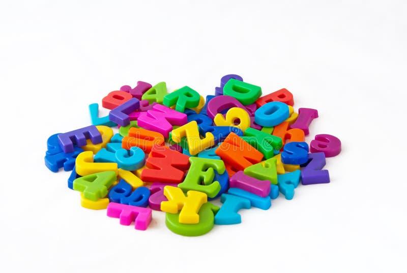 alphabet letters magnetic 免版税库存照片