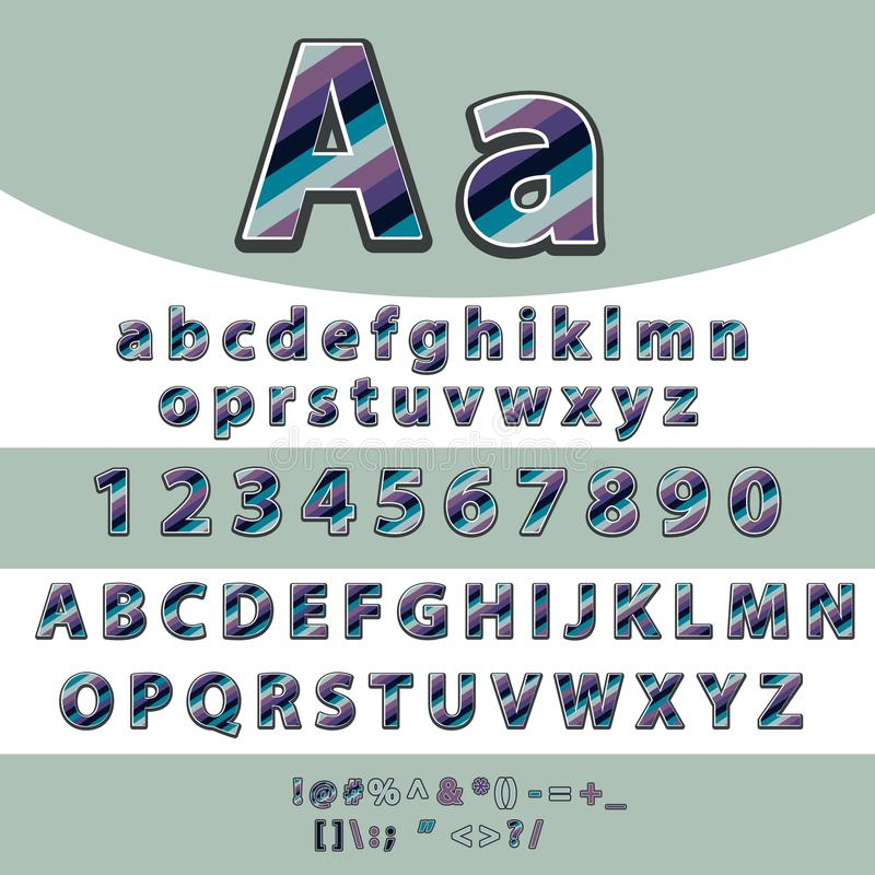 Alphabet Formed By Man Abcde Stock Illustration