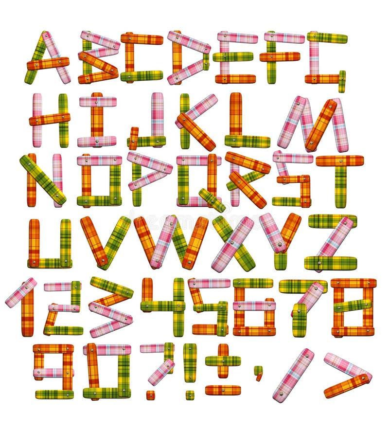 Alphabet - lettres d'un tissu lumineux illustration de vecteur