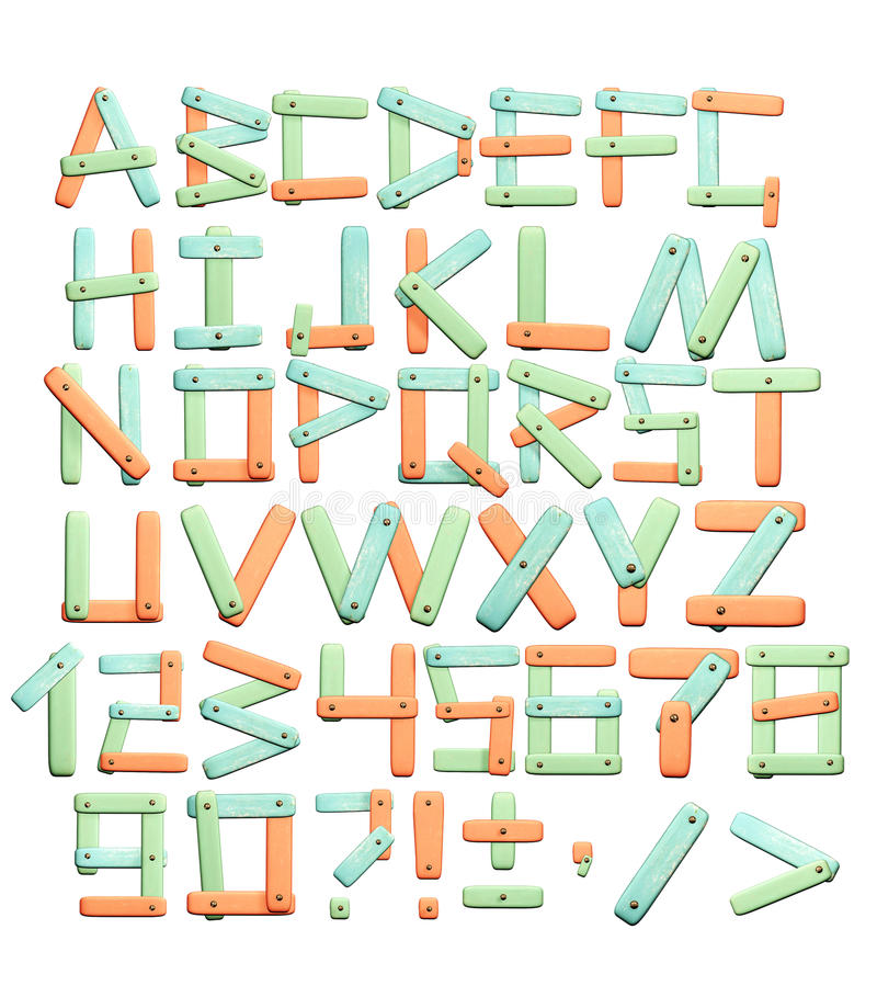 Alphabet - lettres d'une texture de papier lumineuse illustration libre de droits
