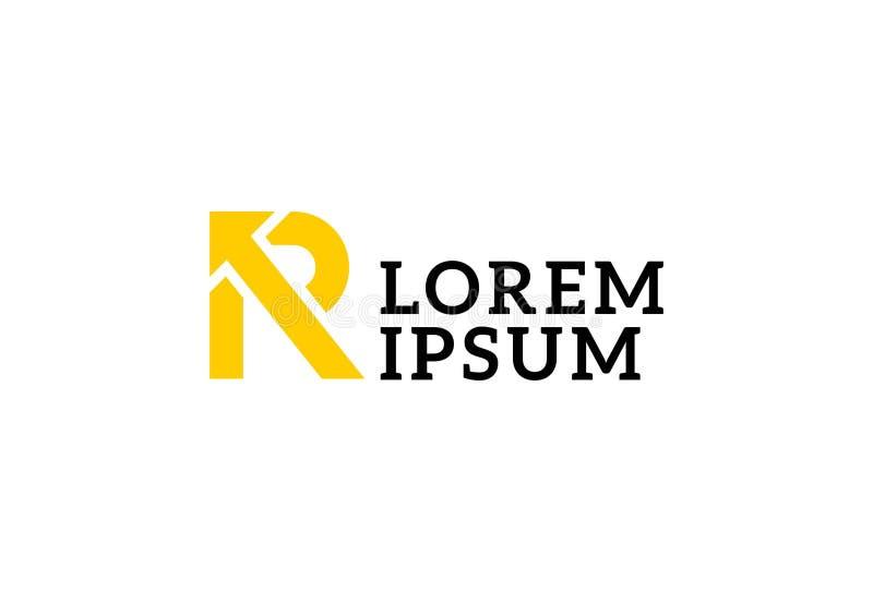 Alphabet-Logoentwurf des Buchstaben R stock abbildung