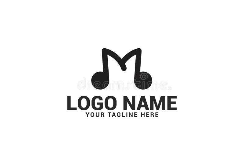 Alphabet M Logo Design illustration stock