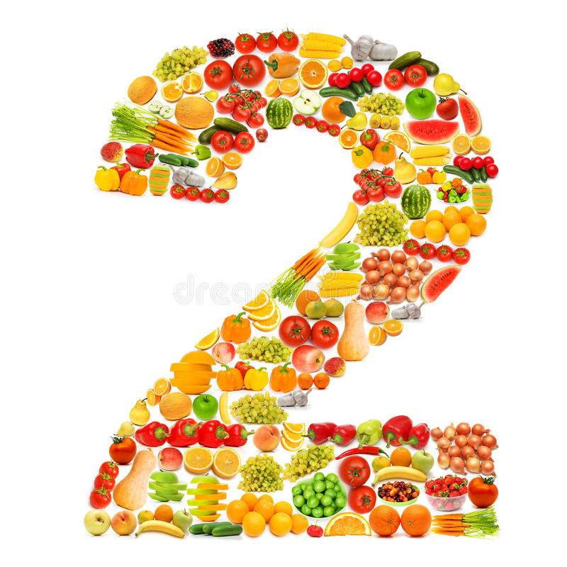 Download Alphabet Made Of   Fruits And Vegetables Stock Photo - Image: 23111828