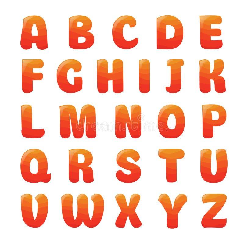 Alphabet mit Erdbeersaft stockfotos